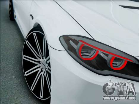 BMW 550 F10 VOSSEN para GTA San Andreas vista hacia atrás