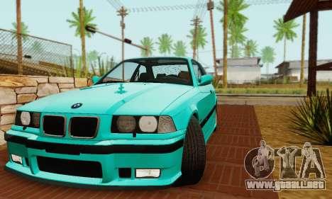BMW E36 M3 1997 Stock para GTA San Andreas vista hacia atrás