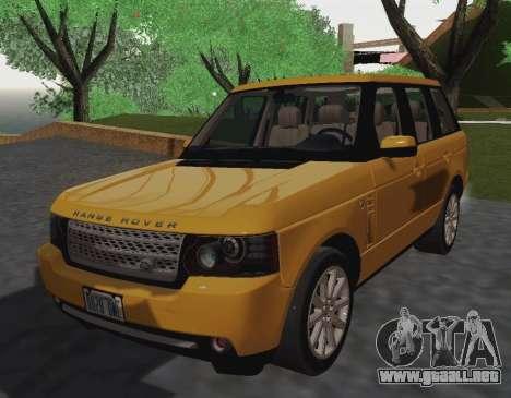 Range Rover Supercharged Series III para GTA San Andreas vista posterior izquierda