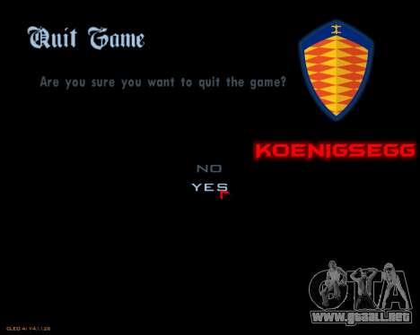 Nuevo menú de la imagen para GTA San Andreas quinta pantalla