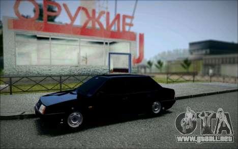 VAZ 21099 el Bandido para la visión correcta GTA San Andreas