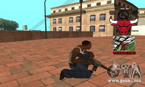 C-HUD Chicago Bulls para GTA San Andreas tercera pantalla