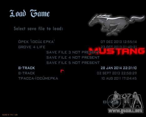 Nuevo menú de la imagen para GTA San Andreas tercera pantalla