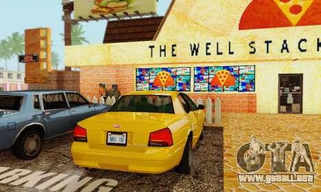 Vapid Stanier II 1.0 para visión interna GTA San Andreas