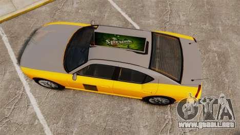 Bravado Buffalo Taxi para GTA 4 visión correcta