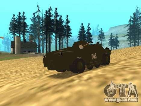 Los guardias de BRDM-2 para GTA San Andreas vista posterior izquierda