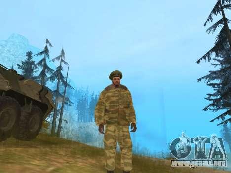 Pak ejército ruso de servicio para GTA San Andreas segunda pantalla