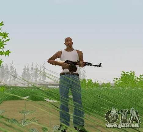 Kalashnikov Luz Ametralladora para GTA San Andreas tercera pantalla