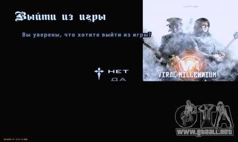 Metal Menu para GTA San Andreas tercera pantalla