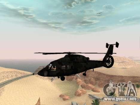 KA-60 para GTA San Andreas vista hacia atrás