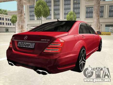 Mercedes-Benz S65 AMG 2012 para las ruedas de GTA San Andreas