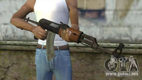 AKM Assault Rifle para GTA San Andreas tercera pantalla