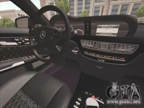Mercedes-Benz S65 AMG 2012 para visión interna GTA San Andreas