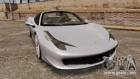 Ferrari 458 Spider para GTA 4