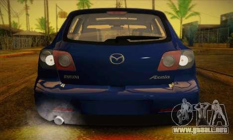 Mazda Axela Sport 2005 para visión interna GTA San Andreas