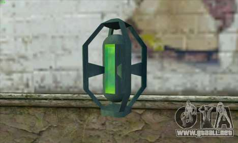 Greengoo alien liquid grenades para GTA San Andreas