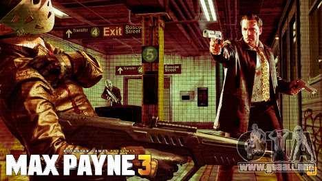 Inicio pantallas de Max Payne 3 HD para GTA San Andreas sexta pantalla