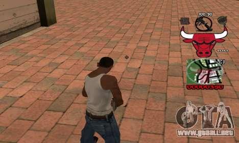 C-HUD Chicago Bulls para GTA San Andreas segunda pantalla