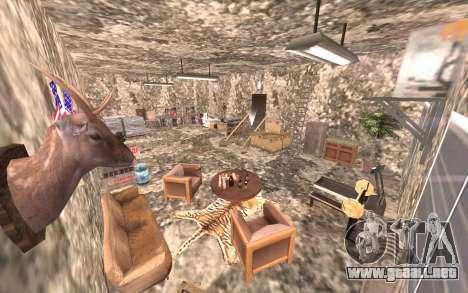 El sótano de la casa de Carl para GTA San Andreas quinta pantalla