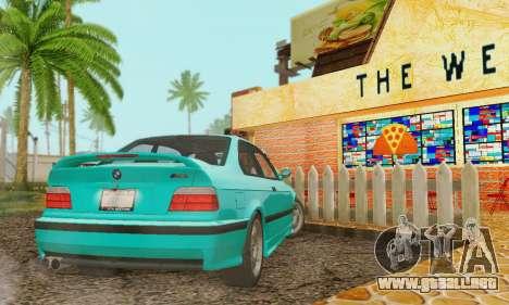 BMW E36 M3 1997 Stock para visión interna GTA San Andreas