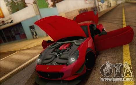 Ferrari California v2 para visión interna GTA San Andreas