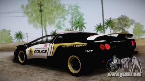 Lamborghini Diablo SV NFS HP Police Car para GTA San Andreas left