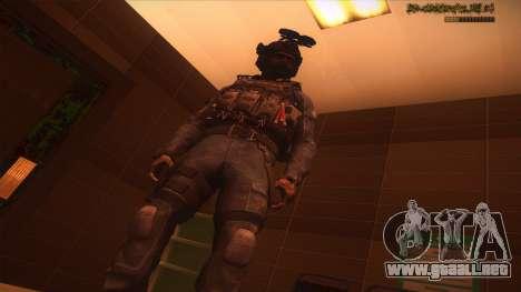 Sgt Keegan P.Russ из De Call of Duty: Ghosts para GTA San Andreas novena de pantalla