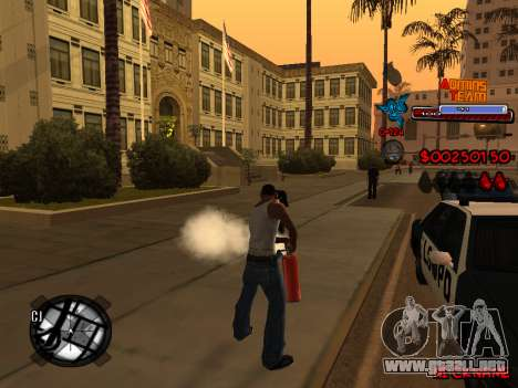 C-HUD Admins Team para GTA San Andreas novena de pantalla