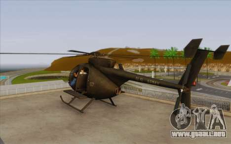 MH-6 Little Bird para GTA San Andreas left
