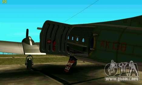 C-47 Dakota RAF para GTA San Andreas vista posterior izquierda