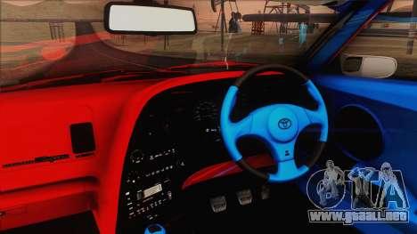 Toyota Supra 1998 Top Secret para visión interna GTA San Andreas
