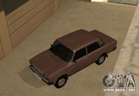 VAZ 2107 versión Temprana para visión interna GTA San Andreas