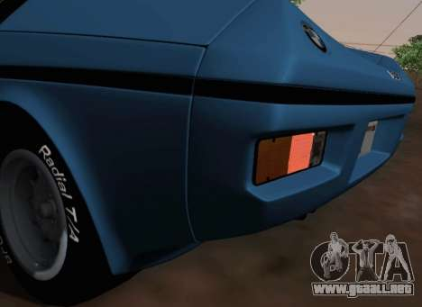BMW M1 Turbo 1972 para vista lateral GTA San Andreas