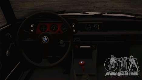 BMW 2002 1973 para la visión correcta GTA San Andreas
