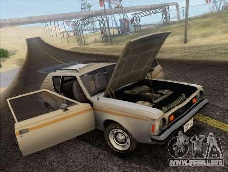 AMC Gremlin X 1973 para GTA San Andreas vista hacia atrás