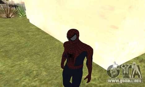 El nuevo spider-man para GTA San Andreas sucesivamente de pantalla