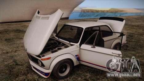 BMW 2002 1973 para visión interna GTA San Andreas