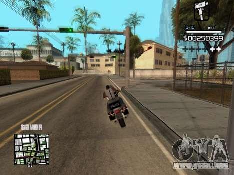 C-HUD By Kapo para GTA San Andreas sexta pantalla