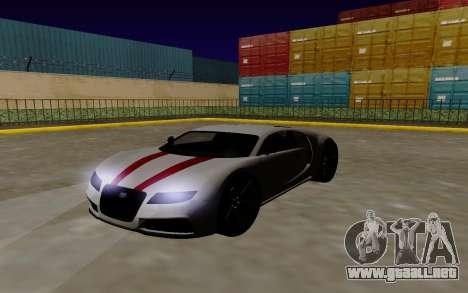 Gta 5 Truffade Adder para GTA San Andreas vista posterior izquierda