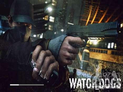 Arranque de las pantallas y menús de Watch Dogs para GTA San Andreas novena de pantalla