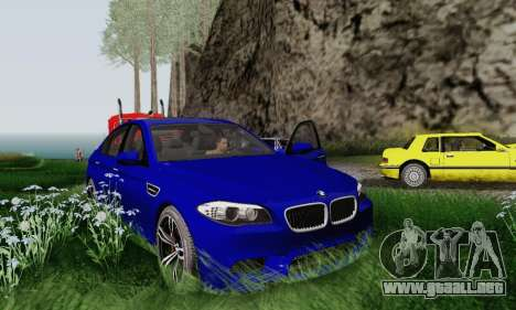 BMW F10 M5 2012 Stock para visión interna GTA San Andreas