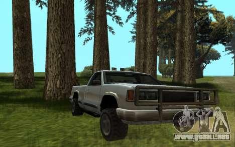 Yosemite Hunter para GTA San Andreas vista posterior izquierda