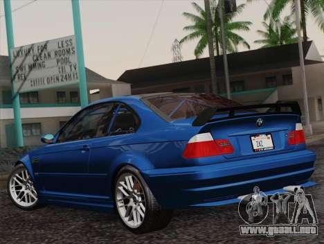 BMW M3 E46 GTR 2005 para GTA San Andreas left