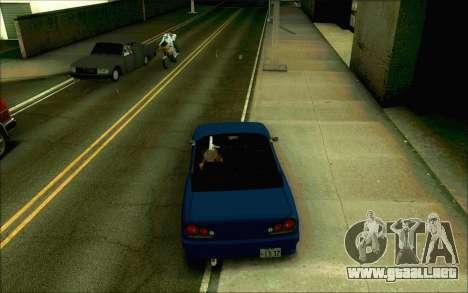 Elegía De Tokio Convertible para GTA San Andreas vista posterior izquierda