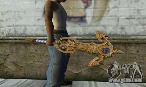 Dragon Nest Warrior Marine Sword para GTA San Andreas segunda pantalla