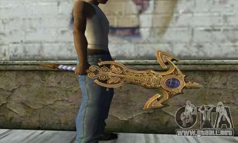 Dragon Nest Warrior Marine Sword para GTA San Andreas segunda pantalla