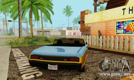 Gta 5 Bucanero actualizado para GTA San Andreas vista hacia atrás