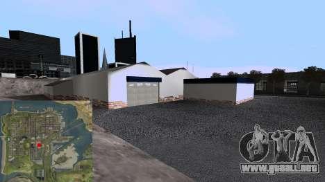Nuevo Garaje para GTA San Andreas quinta pantalla