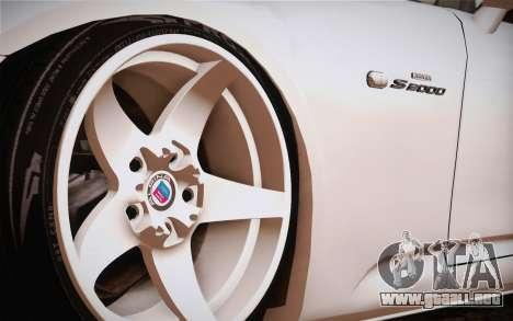 Honda S2000 Edit para GTA San Andreas vista posterior izquierda