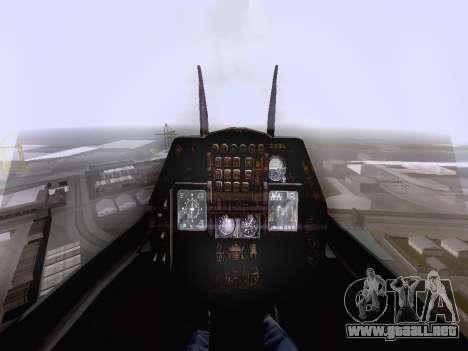 F-16 A para GTA San Andreas vista posterior izquierda
